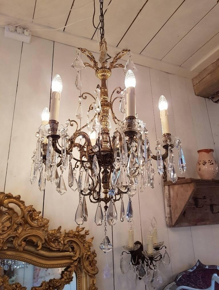 xv home chandelier bronze omero antique style crystal french louis crystals with product