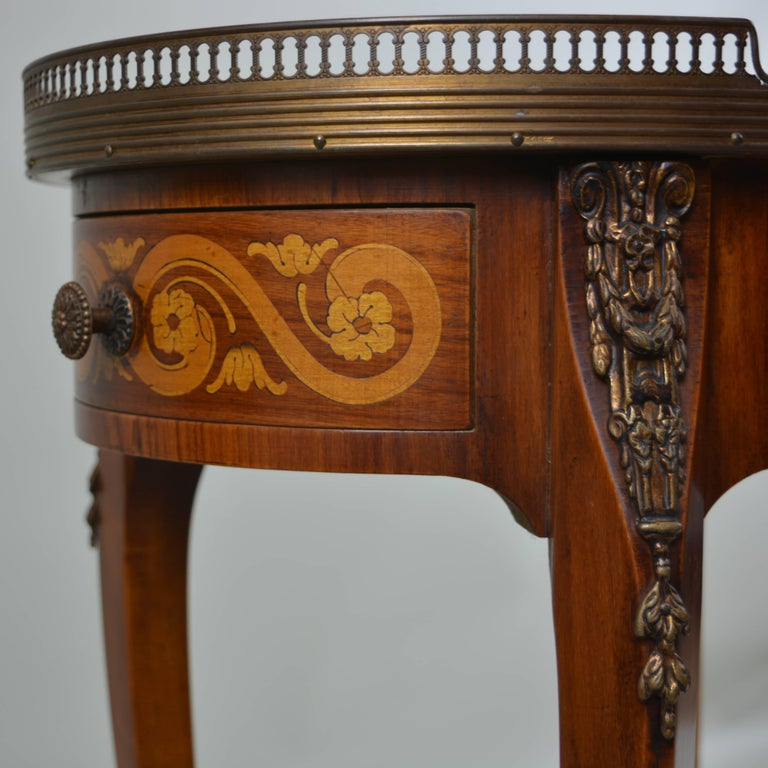 Marble Top Oval Side Table At 1stdibs