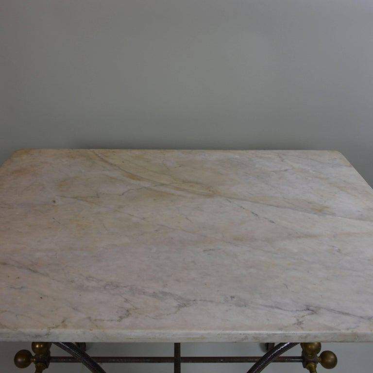 Bakery Table With White Marble Top For Sale At 1stdibs