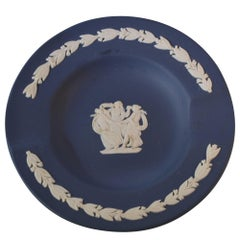 Vintage Wedgwood Jasperware Ashtray Navy Color