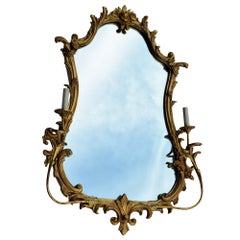 Antique Friedman Brothers Gilt Sconces Mirror