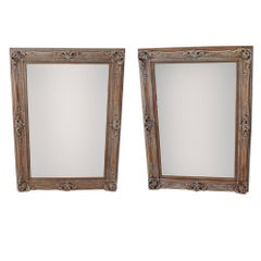 Antique Ornate Frames with New Mirrors, Pair
