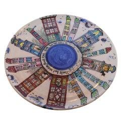 Dutch Canal Home Design Handmade Serving Platter Cake Plate