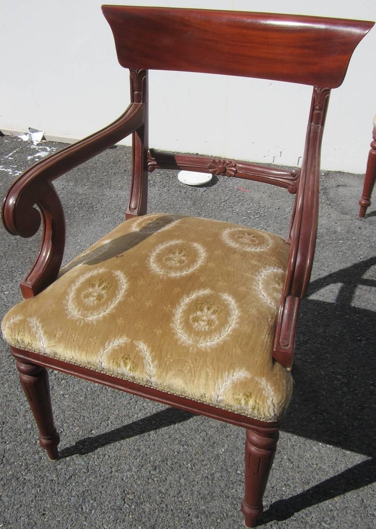 Victorian style chair - Set Of Eight Victorian Style Carver Chairs 3