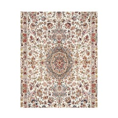 Bagh-e-gol Hand-Knotted Genuine Persian Tabriz Carpet Silk and Wool Rug/Carpet