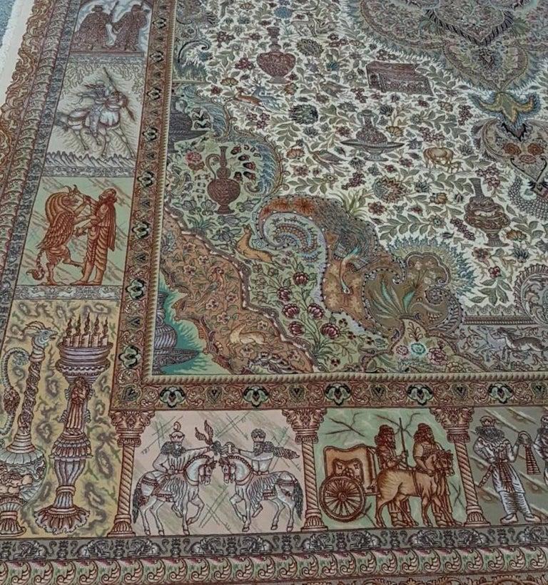 Ancient Symbols-Nami Designer, Hand-Knotted Persian Tabriz Rug 6