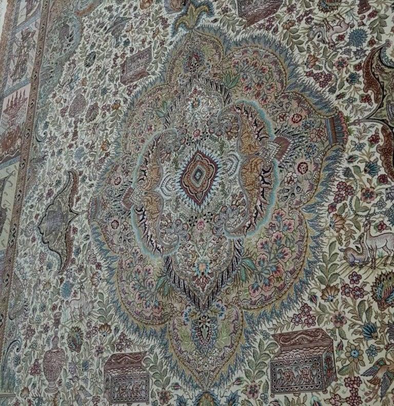 Ancient Symbols-Nami Designer, Hand-Knotted Persian Tabriz Rug 7