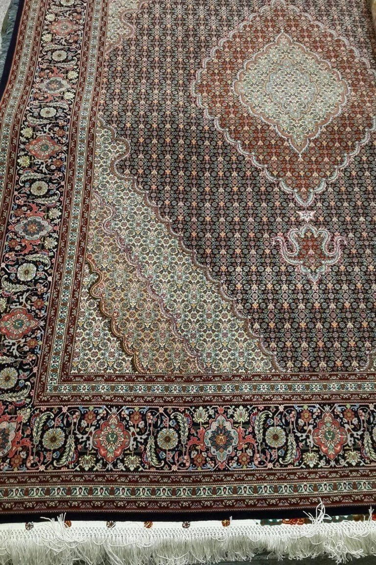 Contemporary Mahi Genuine Hand-Knotted Persian Maralan Tabriz Rug/Carpet For Sale