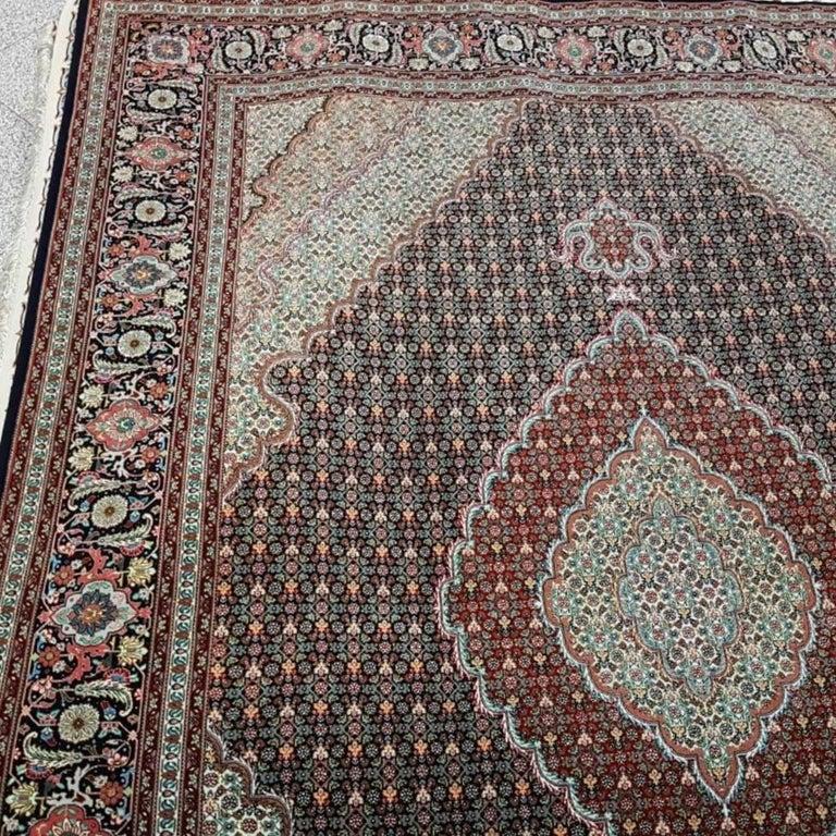 Wool Mahi Genuine Hand-Knotted Persian Maralan Tabriz Rug/Carpet For Sale