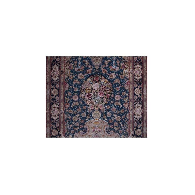 Salari Vase -Master Salari Hand-Knotted Genuine Persian Tabriz Rug or Carpet 5
