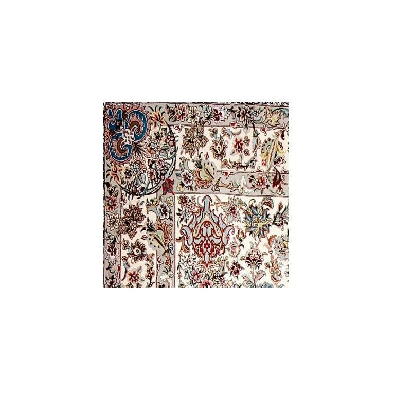 Bagh-e-gol Hand-Knotted Genuine Persian Tabriz Carpet Silk and Wool Rug/Carpet 4
