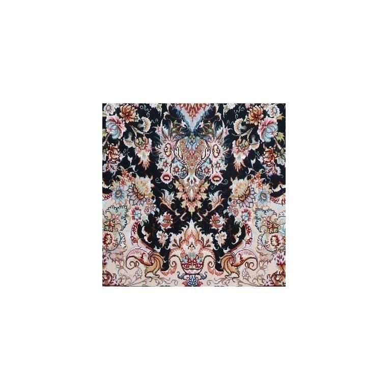 Khatibi Black-Master Khatibi Genuine Persian Tabriz Rug or Carpet 3