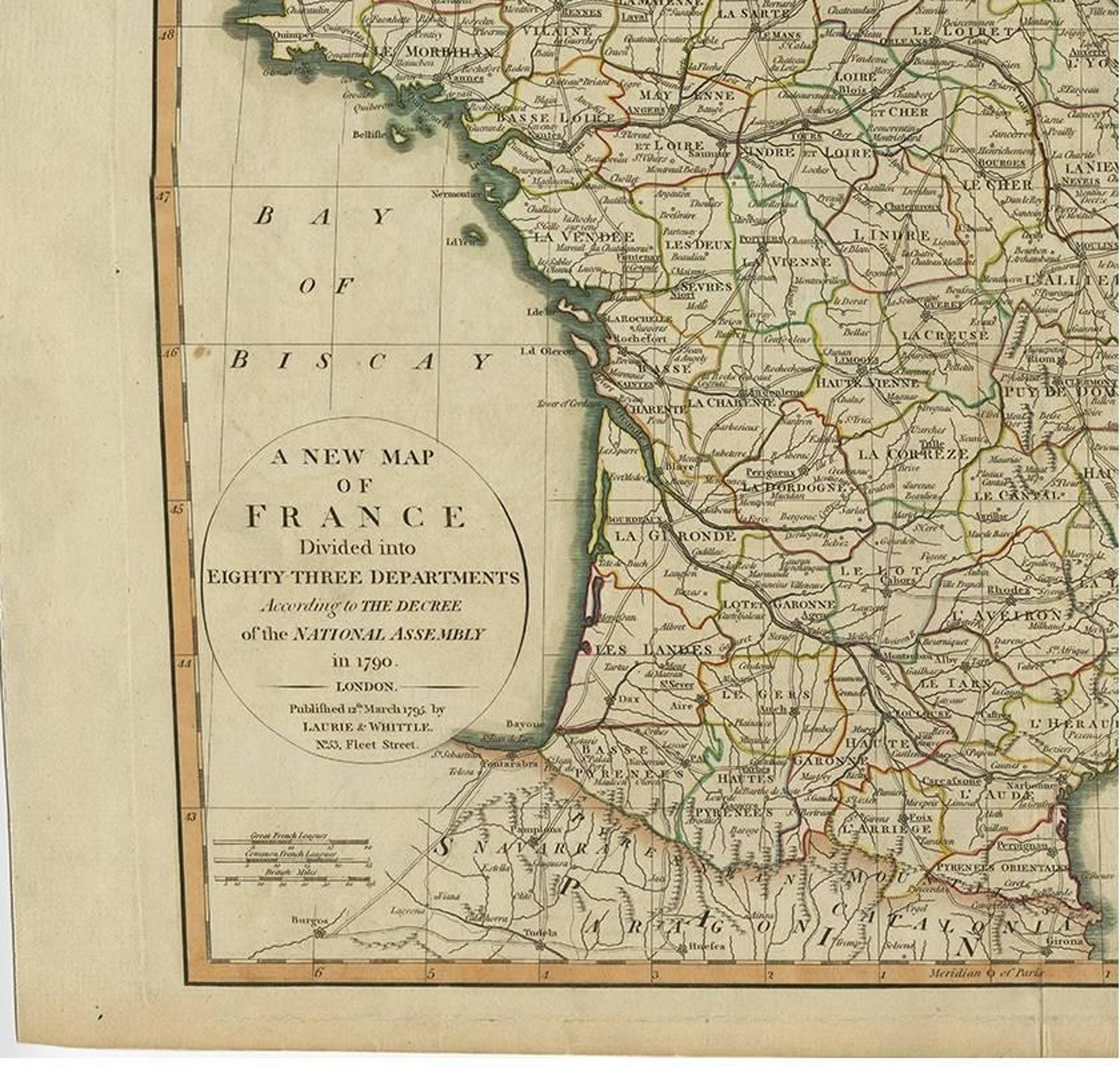 Antique Map of France by Laurie & Whittle, 1795 on hl2 maps, digital paintball half-life maps, css maps, um maps, advanced warfare maps, mc maps,