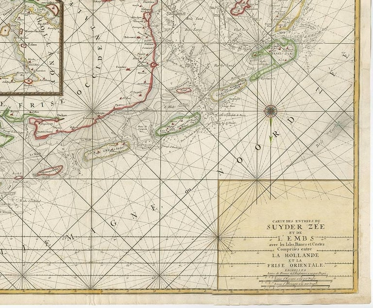 Paper Antique Sea Chart of the Zuyder Zee 'The Netherlands' by H. van Loon, 1773 For Sale