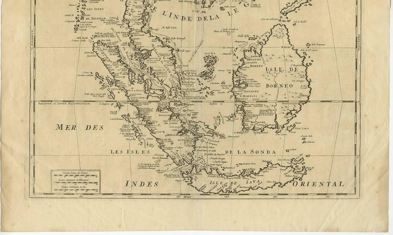 Antique Map of Southeast Asia by H. Chatelain, circa 1720 In Good Condition For Sale In Langweer, NL