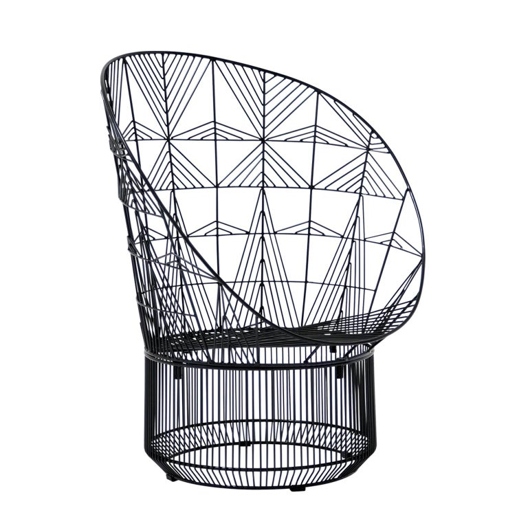 """Modern Wire """"Peacock"""" Lounge Chair by Bend Goods"""