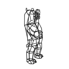 Wire Marching Bear Statuette Tabletop Accessory by Bend Goods