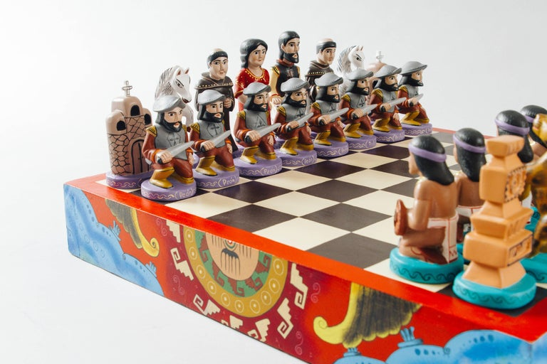 Ceramic Gothic Chess Set E016 Ceramic Bisque 32 Piece