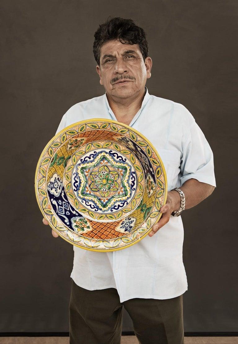 Contemporary Talavera Cesar Torres Puebla Mexico Ceramic Traditional Mexican Decorative Piece For Sale