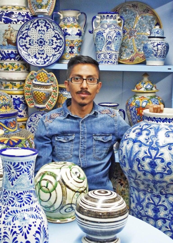 Talavera Cesar Torres Puebla Mexico Ceramic Traditional Mexican Decorative Piece For Sale 1