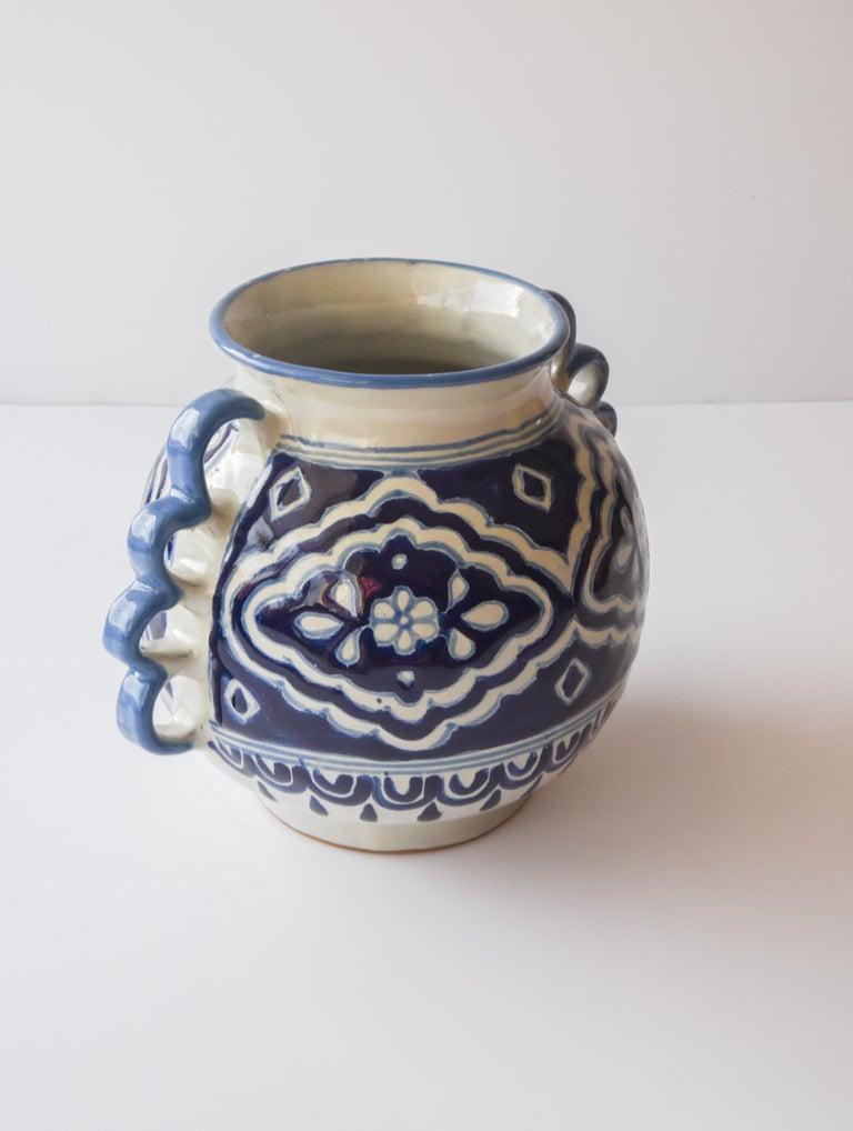 Spanish Colonial Talavera Cesar Torres Puebla Mexico Ceramic Traditional Mexican Decorative Piece For Sale