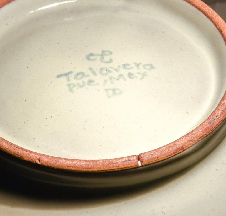 Talavera Cesar Torres Puebla Mexico Ceramic Traditional Mexican Decorative Piece In New Condition For Sale In Queretaro, Queretaro