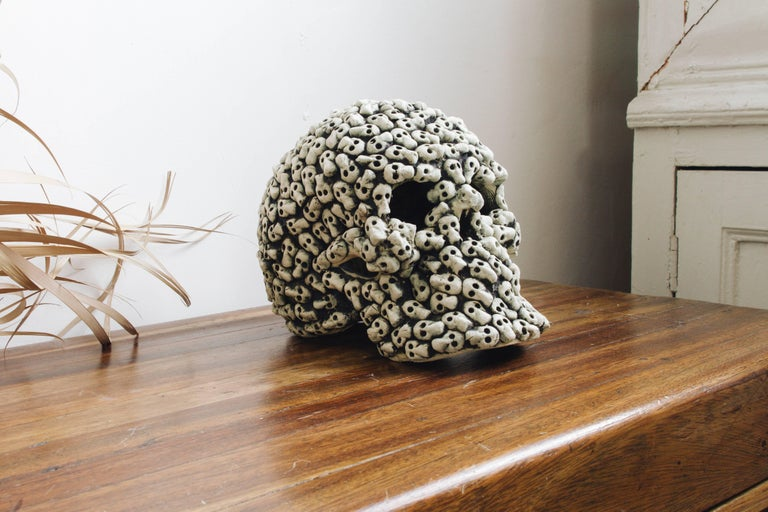 The word tzompantli or tzompantle comes from the Náhuatl (Aztec) language and means skull rack or scaffold of skulls. In different Mesoamerican cultures, skulls from the sacrificed were placed in wood racks to keep the gods satisfied. For the