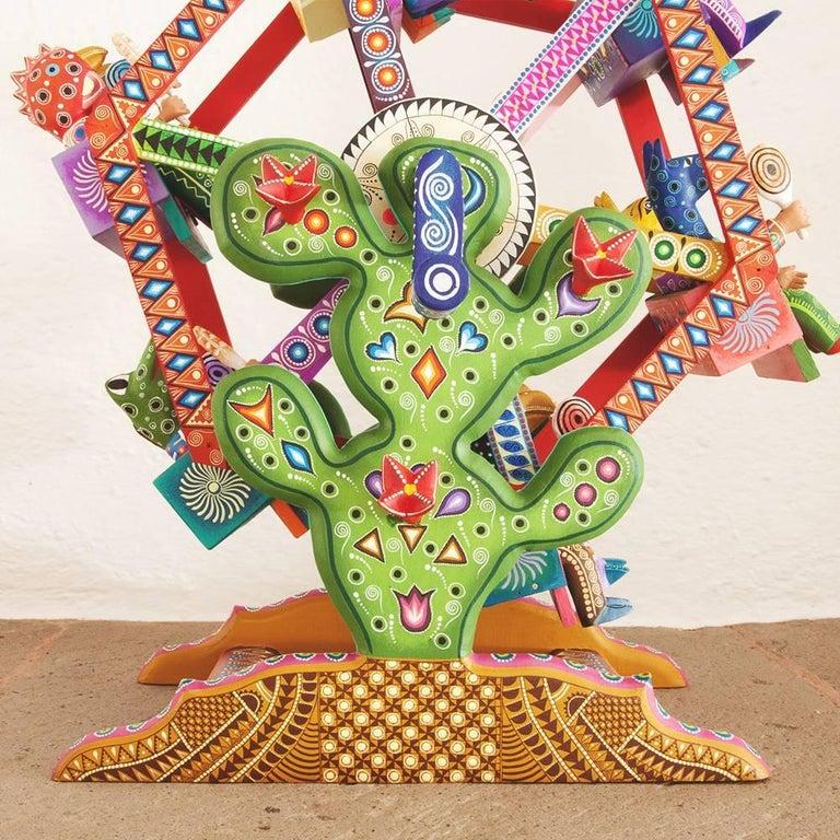 Mexican Folk Art Woodcarving Alebrijes Fortune Wheel Folkloric Art 7