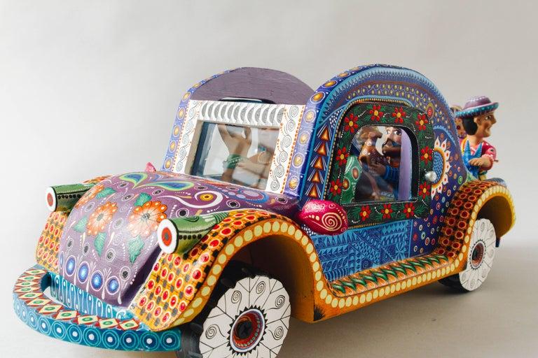 Mexican Folk Art Woodcarving Alebrije Nativity Set Beetle