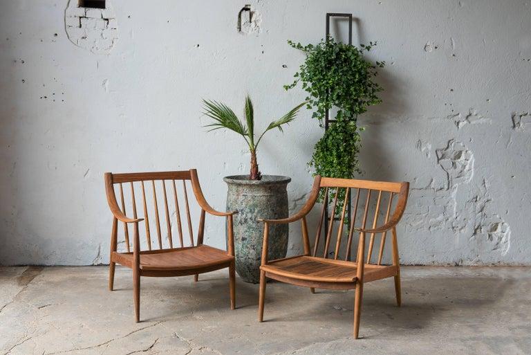 Scandinavian 21th Century Lounge Chairs in Teak Wood For Sale