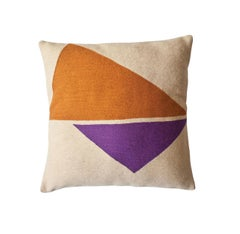 Modern Lucent Reflection Hand Embroidered Geometric Throw Pillow Cover