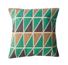 Geometric Mave Hand Woven Modern Triangle Throw Pillow Cover