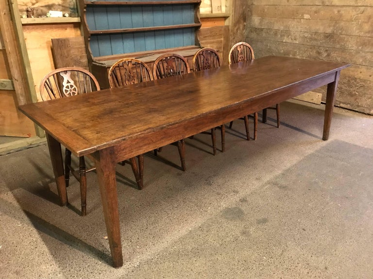 Beautiful chestnut farm house table circa 1840 for sale for 12 seater farmhouse table