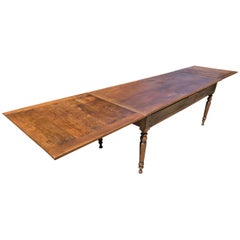 Antique Oak Double Extending Table
