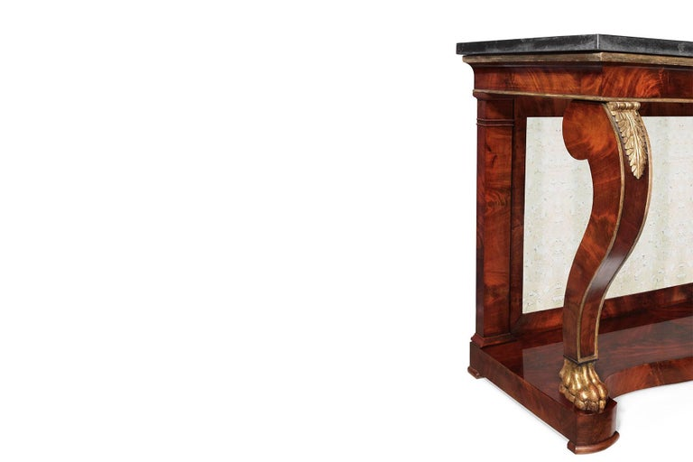 Amazing 19th century empire console table for sale at 1stdibs for Table th width