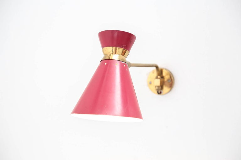 Wall Light French René Mathieu Style Vintage Design For Sale 1