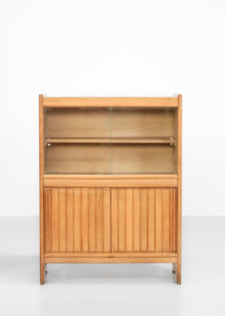 Rare set of two cabinets made in oak.