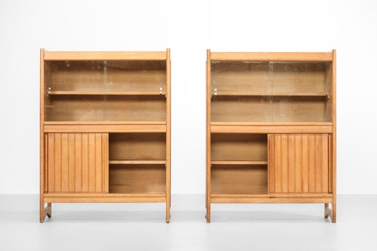 Mid-Century Modern Guillerme et Chambron Cabinets for Votre Maison, 1960s, Set of Two For Sale