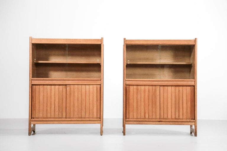 Guillerme et Chambron Cabinets for Votre Maison, 1960s, Set of Two In Good Condition For Sale In Lyon, FR
