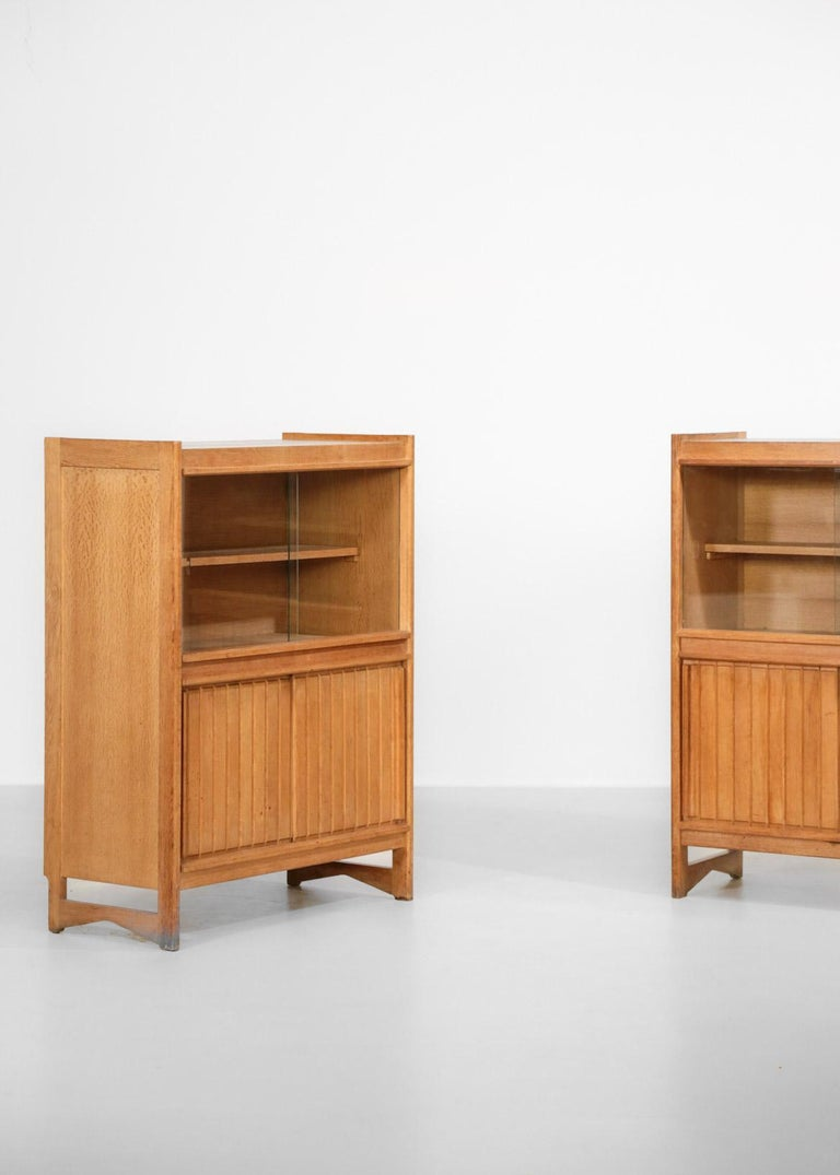 Guillerme et Chambron Cabinets for Votre Maison, 1960s, Set of Two For Sale 2