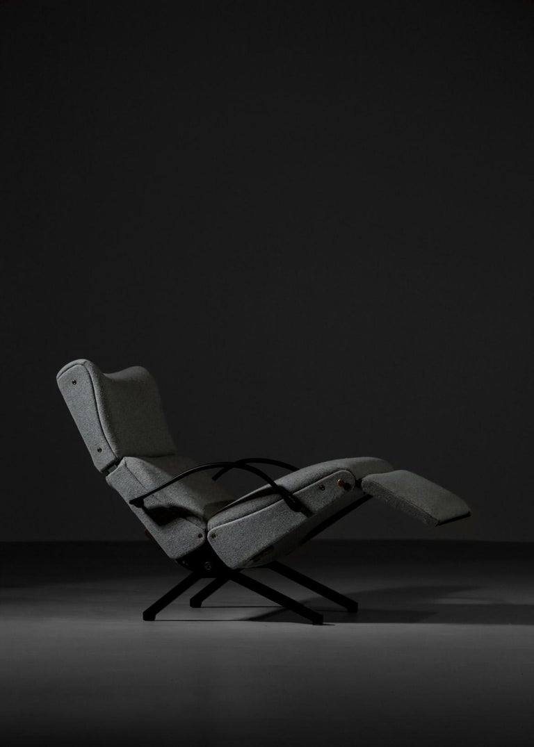 Lounge chair P40 by Osvaldo Borsani for Tecno. Based on Borsani's belief that design should be born out of technical research, the P40 are highly innovative in the flexibility he offers.  With all the main elements of its design being adjustable,