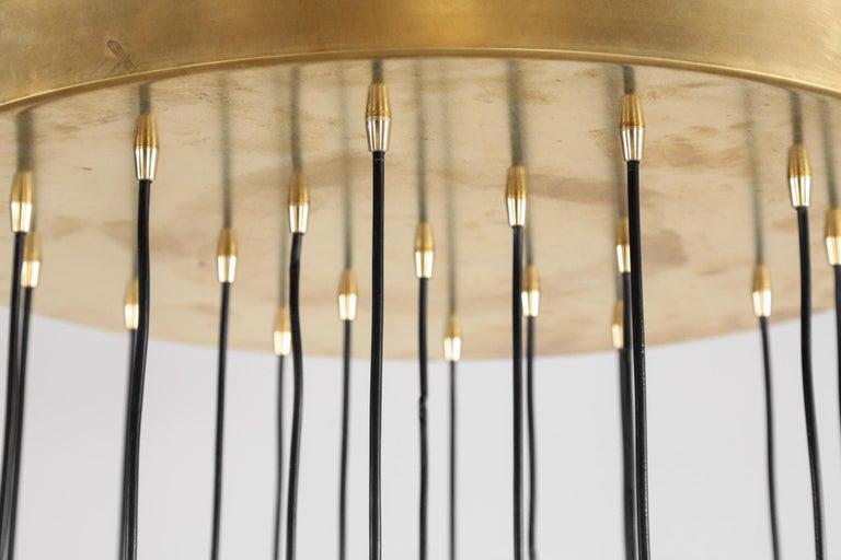 Large Modern Suspension, Hans Agne Jakobsson Style, 19 Lights For Sale 8