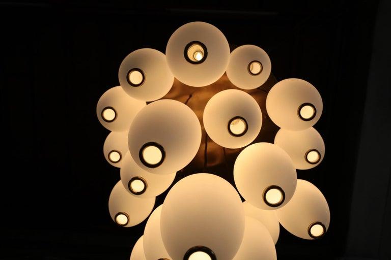 Large Modern Suspension, Hans Agne Jakobsson Style, 19 Lights For Sale 6