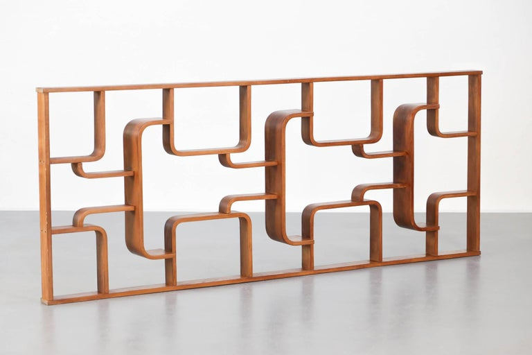 Wall Units Czech Republic Screen Oak, 1960s, Ludvik Volak, Midcentury For Sale 3
