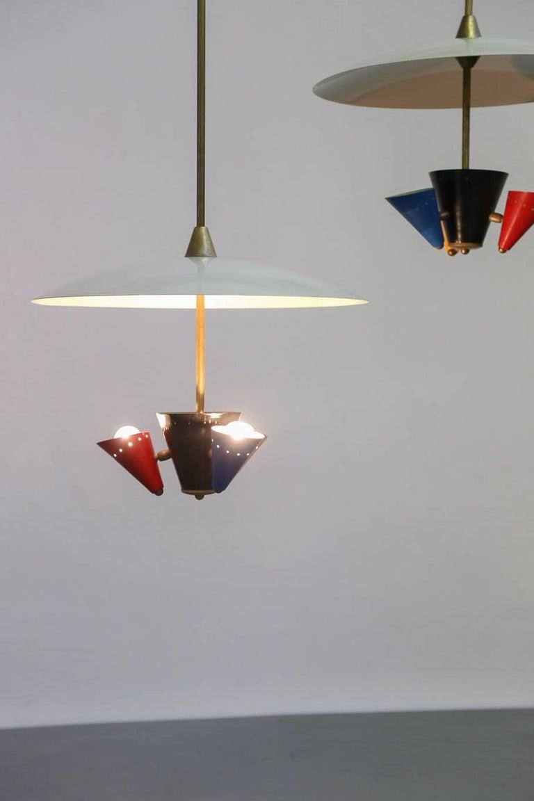 20th Century Pendant Lamp in the Style of Gino Sarfatti 1950s Stilnovo For Sale