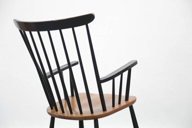 Finnish Rocking Chair Tapiovaara Model Fanett Scandinavian, 1960s For Sale