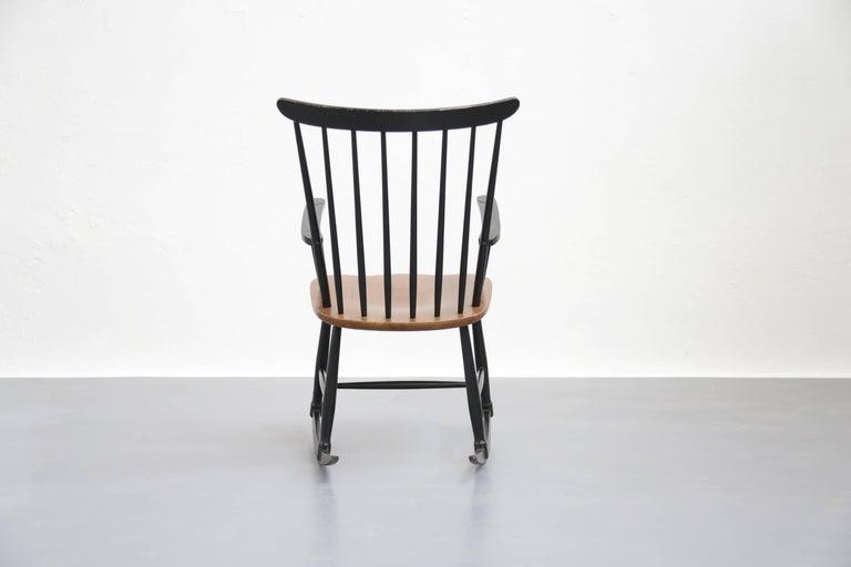 20th Century Rocking Chair Tapiovaara Model Fanett Scandinavian, 1960s For Sale