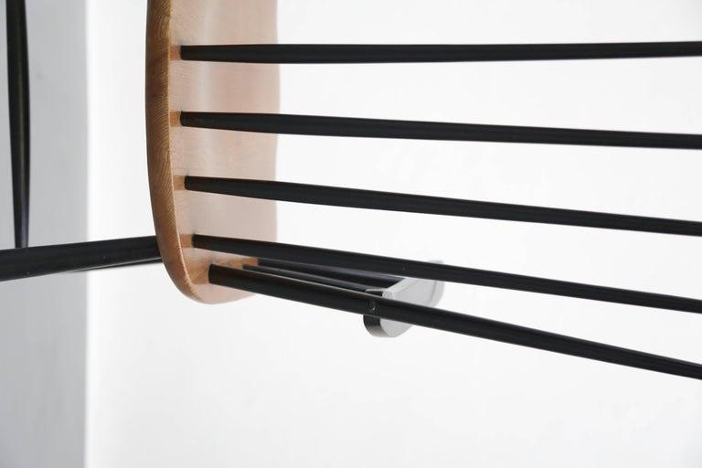 Beech Rocking Chair Tapiovaara Model Fanett Scandinavian, 1960s For Sale