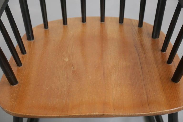 Rocking Chair Tapiovaara Model Fanett Scandinavian, 1960s For Sale 2