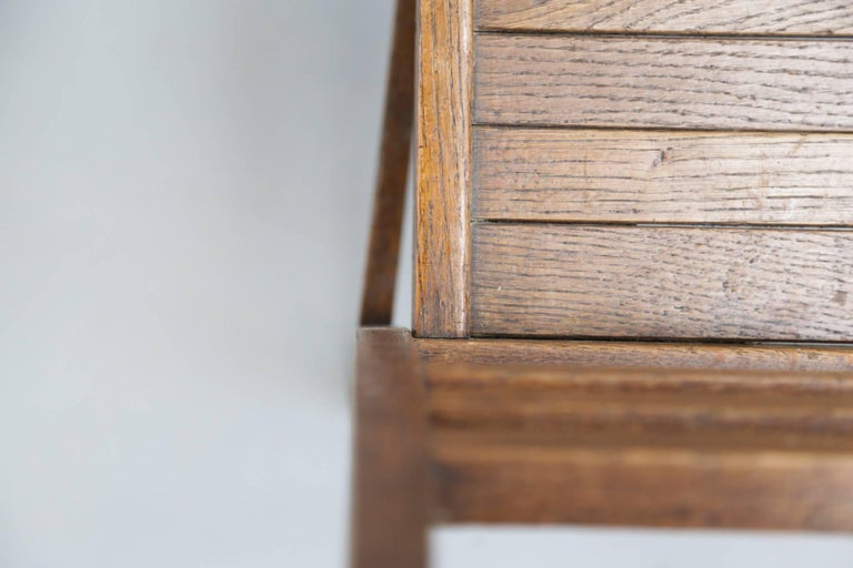 Set of Four Oak Dining Chairs, Rene Gabriel, 1940s For Sale 1